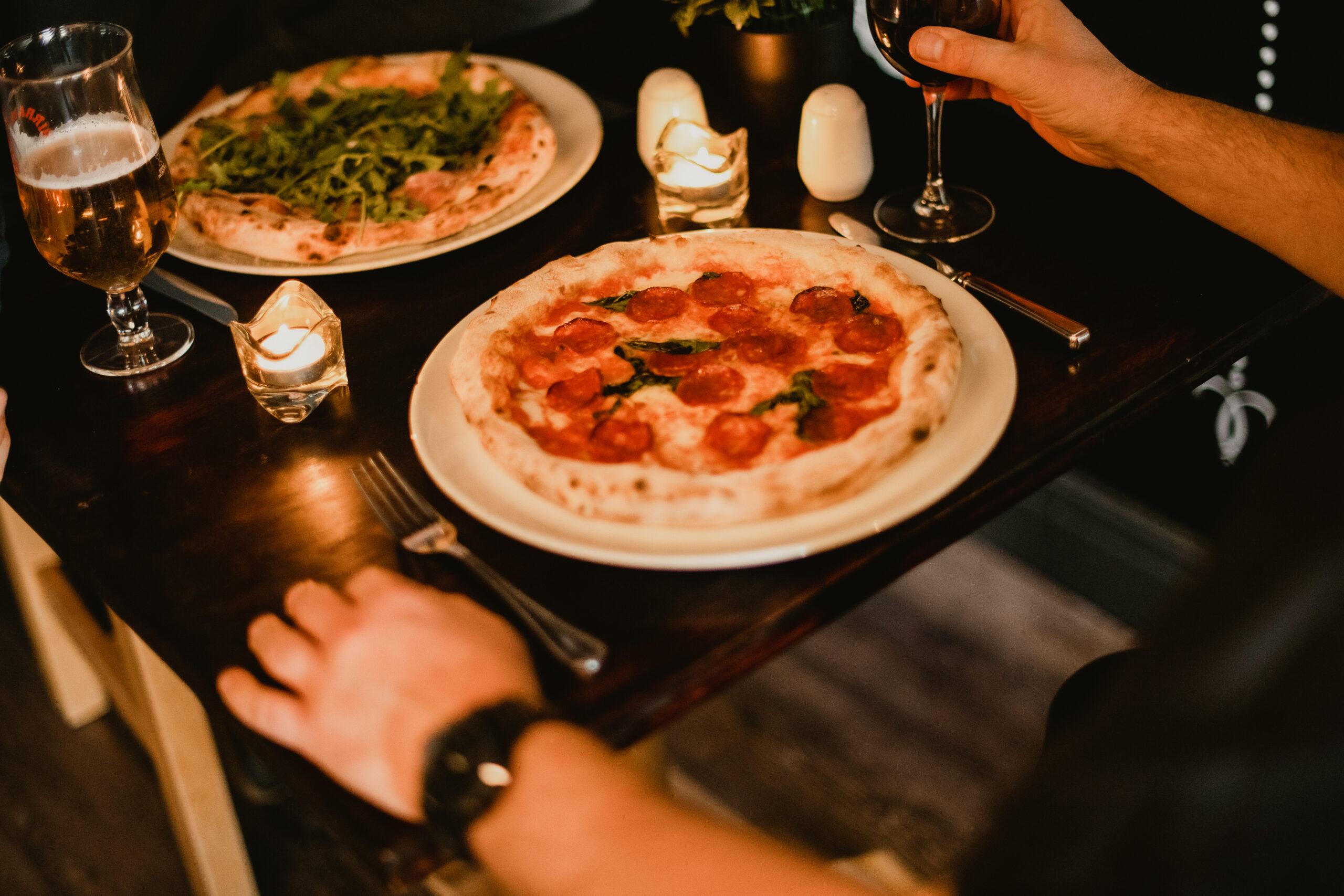 Dining indoors at Pizzeria Villaggio, Cardiff