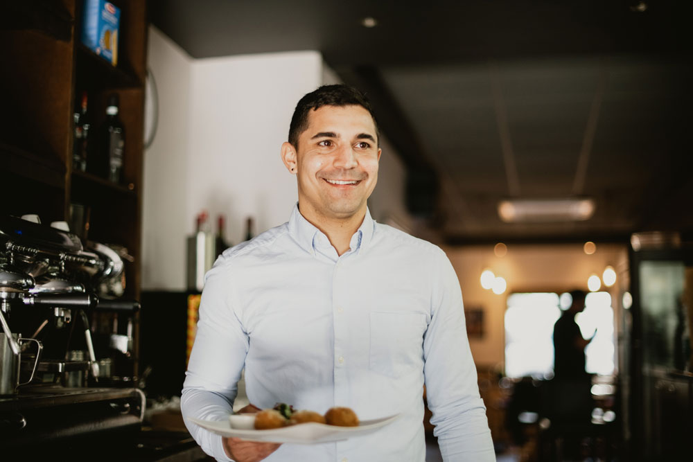 Gianluca Palladino, Manager of Pizzeria Villaggio
