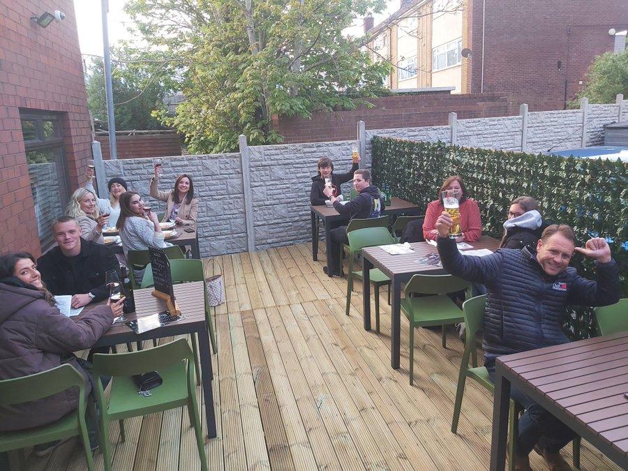 Pizzeria Villaggio Outdoor dining space, Cardiff
